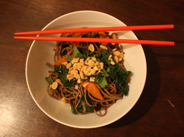 Soba noodles top