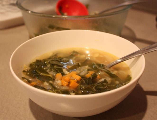 Ginger & Greens Soup